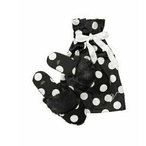 NWT VICTORIA'S SECRET PINK Satin Slippers w/ Bag